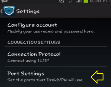 settings droidvpn movistar venezuela
