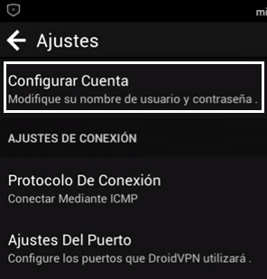 ajustes droidvpn 2006 android
