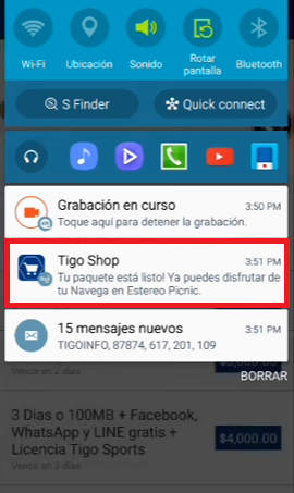 tigo shop tener 1gb de internet android gratis