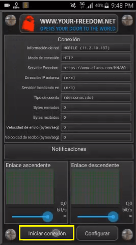 configuracion trick your freedom
