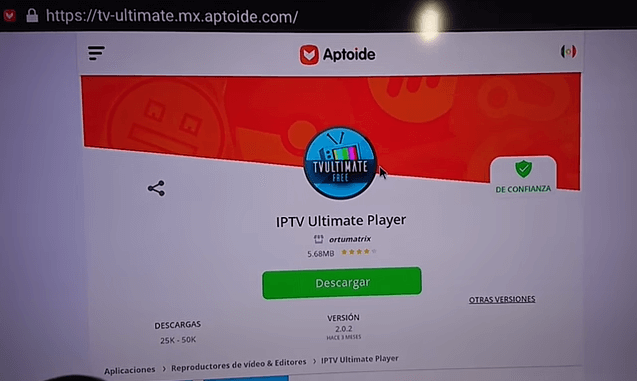 como descargar iptv ultimate free apk en tvbox android