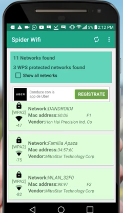 descargar spider wifi android router hacker